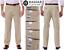 Men/'s Haggar expandomatic Stretch Classic-Coupe Confort Taille Twill Pantalon Kaki