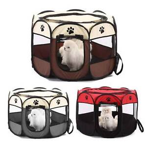 New-Large-Foldable-Pet-Exercise-Kennel-Soft-Fabric-Dog-Run-Puppy-Playpen-Cage