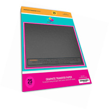 """Carbon Tracing Graphite Transfer Paper - 25 Sheets (9"""" x 13"""") Black Extra Dar..."""
