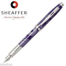 Sheaffer 100 Pattern Gift Collection Fountain Pen Gloss Purple Medium Nib New
