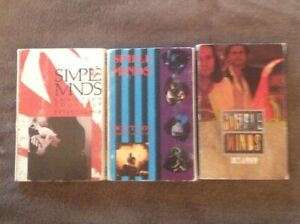 Music-Cassette-Tapes-Bundle-Simple-Minds-Singles-Cardboard-Covers