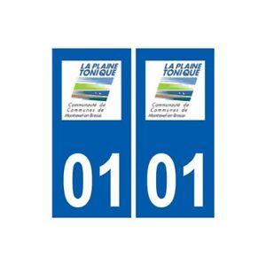 01 Montrevel-en-bresse Logo Ville Autocollant Plaque Sticker - Angles : Droits
