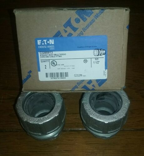 "CORD /& CABLE FITTING 2-PK 1-1//2/"" EATON//CROUSE-HINDS CGB5913 MALE FREE SHIP"