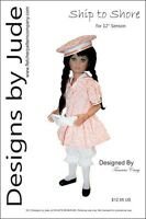 Ship To Shore Doll Clothes Sewing Pattern For 12 Senson Dolls