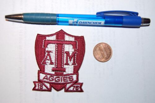 """Texas A/&M Aggies 2 1//2/"""" Established 1876 Logo Patch College"""
