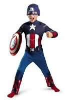Captain America Avengers Costume Boys Small 4-6 Halloween Dress Up Play