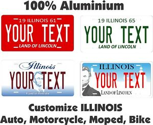 Illinois 1970 License Plate Personalized Custom Car Auto Bike Motorcycle Moped