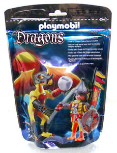 PLAYMOBIL-Dragons-5462-Rock-Dragon-with-Warrior-BRAND-NEW