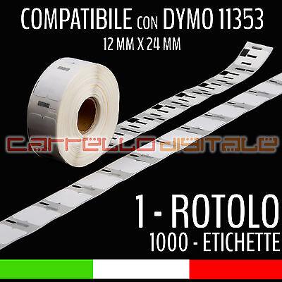 1 Rotolo Etichette Compatibili Con Dymo 11353 24 Mm X 12 Mm Labelwriter 400 450 Essere Distribuiti In Tutto Il Mondo