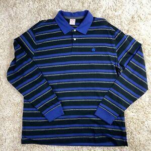 Brooks-Brothers-Men-039-s-XL-Multi-Color-Striped-Long-Sleeve-Logo-Polo-Shirt