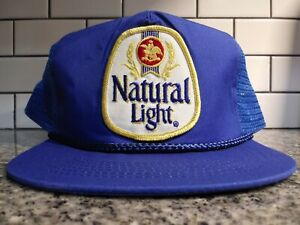 01cb4b074 Details about Natural Light Trucker Hat Vintage Style