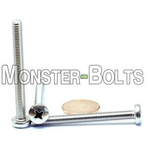Cross Recessed A2 M4 x 50mm  Stainless Steel Phillips Pan Head Machine Screws