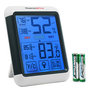 ThermoPro-TP55-Digital-Indoor-Thermometer-Hygrometer-Humidity-Meter-Touchscreen