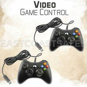 2x-For-Microsoft-Xbox-360-amp-Windows-PC-USB-Wired-Video-Game-Controller-Pad-Black