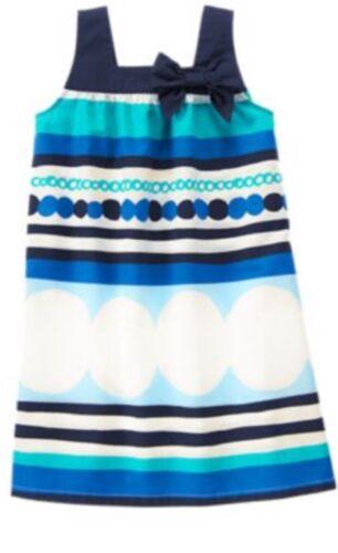 Gymboree Seaside Stroll 6 8 10  Blue Dot Striped Sundress Dress Summer Beach 15