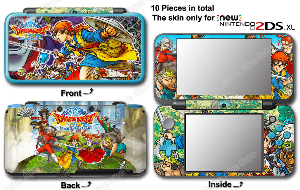 Dragon Quest VIII Journey of Cursed King Skin Sticker Cover #2 for NEW 2DS XL