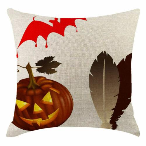 Decorative Cushion Halloween Pillowcases Pillow Cover Pumpkin Fall Sofa