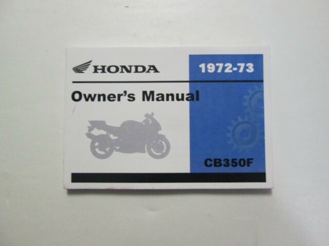 Honda Cb350 Four Owners Manual Cb350f Cb 350 For Sale Online Ebay