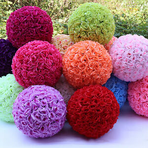20cm-Flower-Kissing-Ball-Wedding-Faux-Silk-Rose-Pomander-Party-Home-Decor