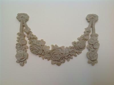 Shabby Vintage Chic French Provincial  Furniture Applique 'Swag & Drop Garland'