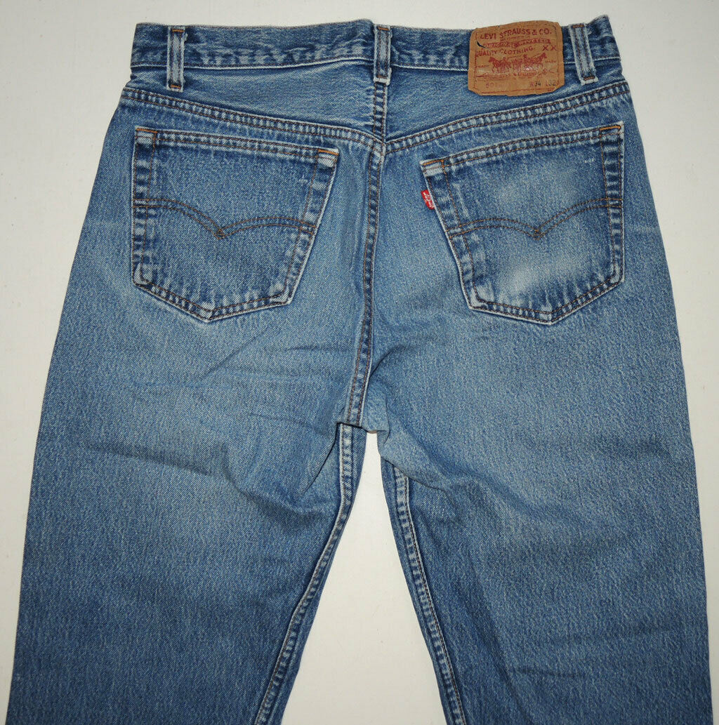 Vtg 90s Levi's 501 Jeans Made In USA Faded 32.5x2… - image 4