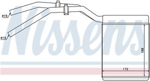 LHD NISSENS 71770 Interior Heater Matrix