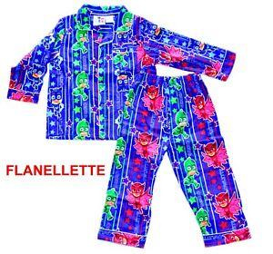 BNWT PJ MASKS FLANNEL COTTON BLUE PYJAMAS SLEEPWEAR
