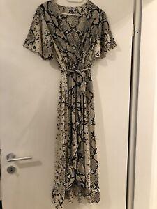 Kleid Italienisch New Collection Gr S M D Wie Neu Schwarzweiss Schlangenmuster Ebay