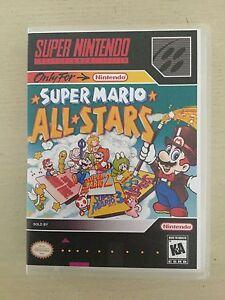 Universal-SNES-Replacement-Case-NO-GAME-Super-Mario-All-Stars-Super-Nintendo
