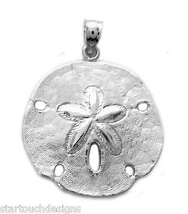 New 925 sterling silver sand dollar pendant ebay image is loading new 925 sterling silver sand dollar pendant aloadofball Images