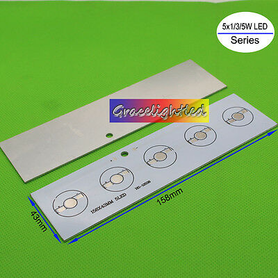 158mm x 43mm Aluminium PCB Circuit Board for 5x 1w,3w,5w High Powr LED in Series