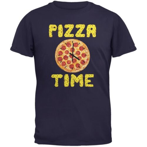 Pizza Time Clock Navy Youth T-Shirt