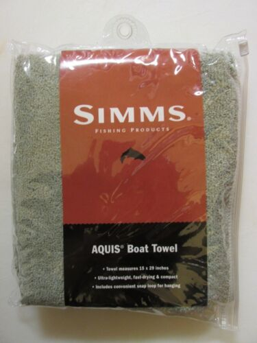 """SIMMS Aquis Boat Towel 15/"""" x 29/"""" Light Weight Great Holiday Gift NEW"""