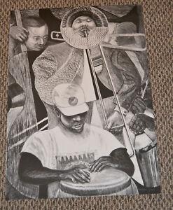 Rare SPIRAL LITHOGRAPH 2001 by Reginald Gammon African American Artist 21.5x30