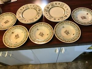 """Disney Winnie The Pooh 11"""" Stoneware Deep Plates and 9/"""" Salad//Soup //Cereal Bowl"""