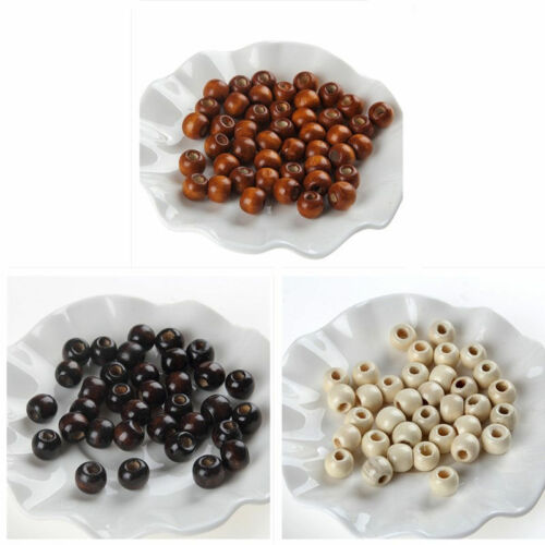 50pcs 10mm Wooden Loose Spacer Buddha Beads Charms DIY Bracelet Necklace Jewelry