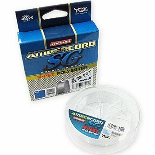 YGK Ester Line AMBERCORD S-pet Polyester 150m Size 0.3 1.8lb 0438 Clear for sale online