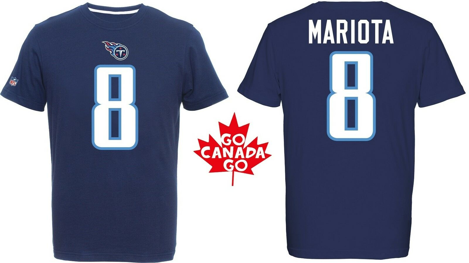 NFL Football T-Shirt TENNESSEE TENNESSEE TENNESSEE TITANS Marcus Mariota 8 rotburn Receiver Trikot 65d55b