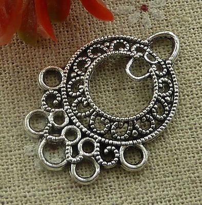 free ship 120 pcs tibetan silver earring connector 36x26mm #2181