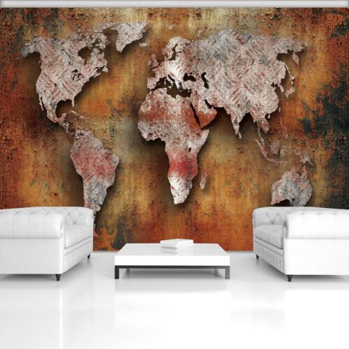 Photo Wallpaper Mural  20272/_P Rusty World Map Map Continents World Africa Asia