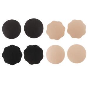 20x Satin Black Round Breast Nipple Cover Sticker Bra Pad Patch Disposable