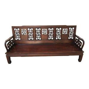 Image Is Loading 1960s Vintage Asian Rosewood Sofa