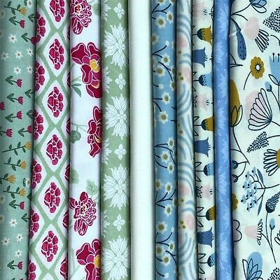 Spotty FQ 100/% Cotton Fabric Bundle Vintage Style patchwork Quilting craft