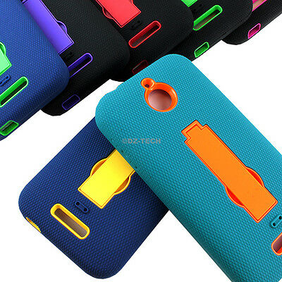 For HTC Desire 510 512 Rugged Impact Hybrid Protective Hard Case Cover Kickstand