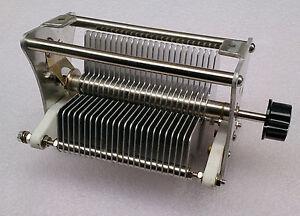 Dieléctrico de aire de una sola unidad Condensador Variable 30-1000PF 1000 V Con Perilla Nuevo