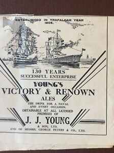K1a Ephemera 1935 Advert Youngs Victory amp Renown Ales J J Young - Leicester, United Kingdom - K1a Ephemera 1935 Advert Youngs Victory amp Renown Ales J J Young - Leicester, United Kingdom