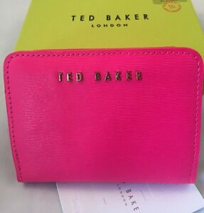 1872ed156b Ted Baker Xhatch Colour Block Leather Purse Bright Pink with box | eBay