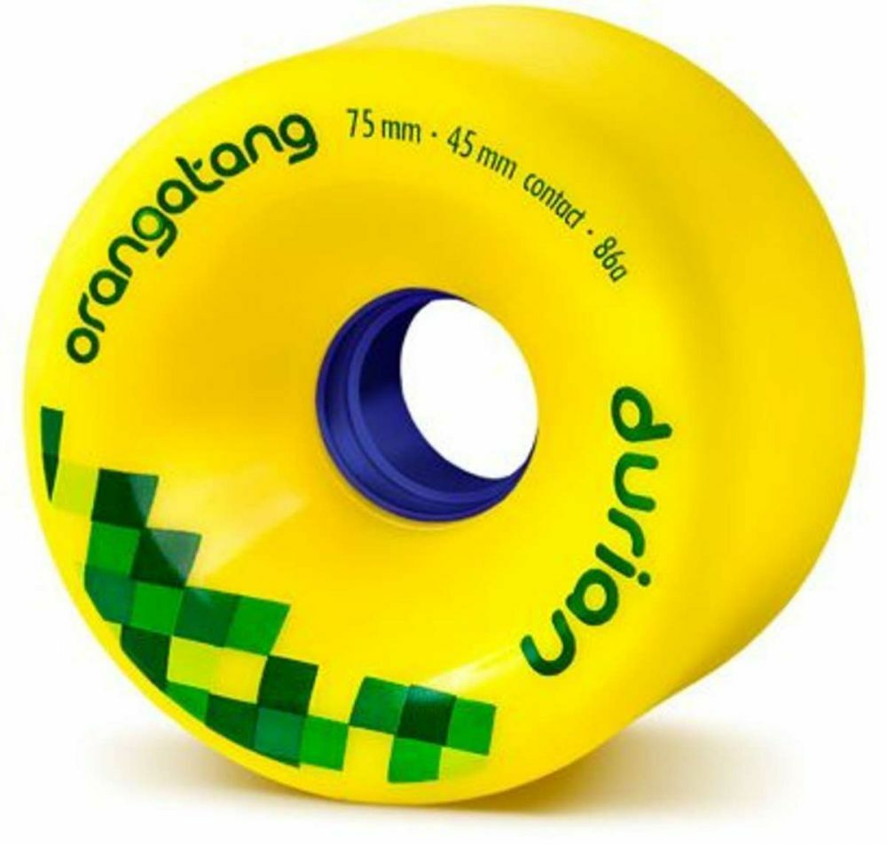 Orangatang Durian - 75mm 86a Yellow Longboard Wheels