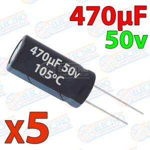 Condensadores-electroliticos-470uF-50v-20-10x17mm-Lote-5-unidades-Arduino