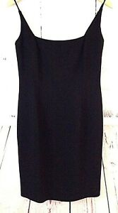 New-JONES-NEW-YORK-Women-039-s-6-Little-Black-Crepe-Cocktail-Party-Sheath-Dress-Sz-6